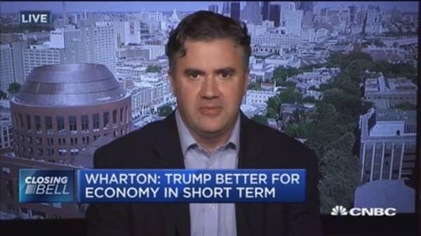Wharton: Trump better for economy in short term