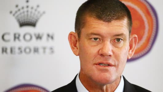 Crown Resorts Chairman James Packer.