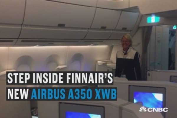 We took a tour of Finnair's new Airbus 350