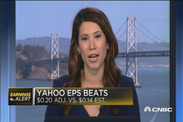 Yahoo Q3 EPS beats consensus, revenue meets
