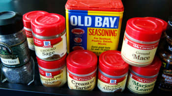Cooking spices manufactured by McCormick & Co.