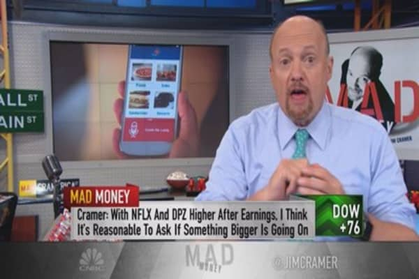 Cramer: Apple is powering the explosion of Netflix & Domino's Pizza