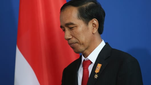 Indonesian president jokowi celebrates 2 years in office with an eye indonesian president jokowi celebrates 2 years in office with an eye on 2019 vote reheart Images