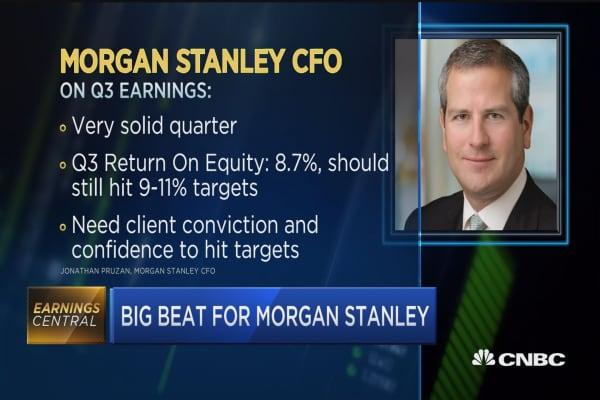 MS post 'solid quarter': CFO