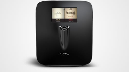 Plum Wine appliance allows you to pour wine by the glass.