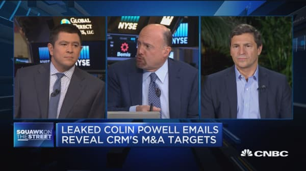 Leaked Colin Powell emails reveal CRM's M&A targets