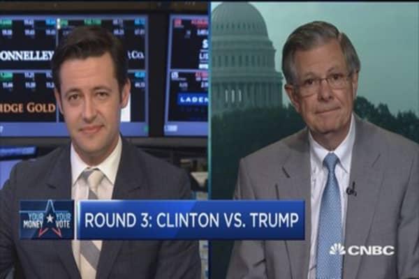 Round 3: Clinton vs. Trump