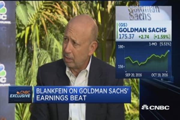 Blankfein: Bank results were good despite low bar