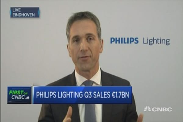 Philips Lighting encountered tough market conditions: CEO
