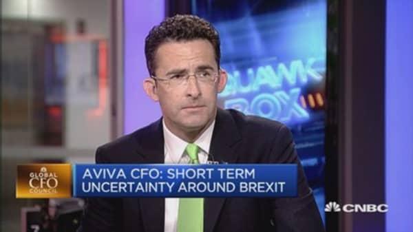 Brexit hasn't impacted our balance sheet: Aviva CFO