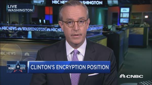 Clinton cozy with Apple?
