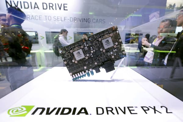 A Nvidia Drive PX 2 computer for autonomous vehicles.