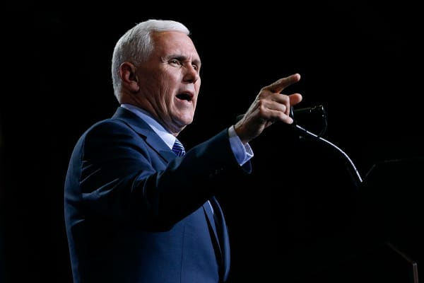 Republican vice presidential nominee Mike Pence