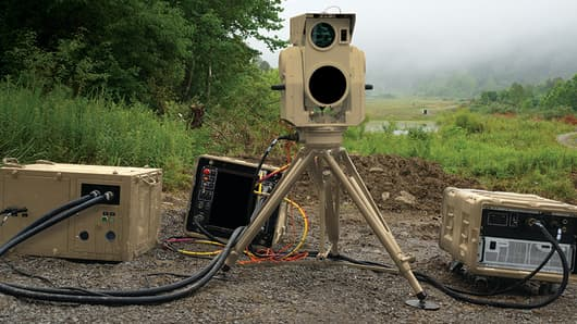 Boeing's anti-drone Compact Laser Weapons System.