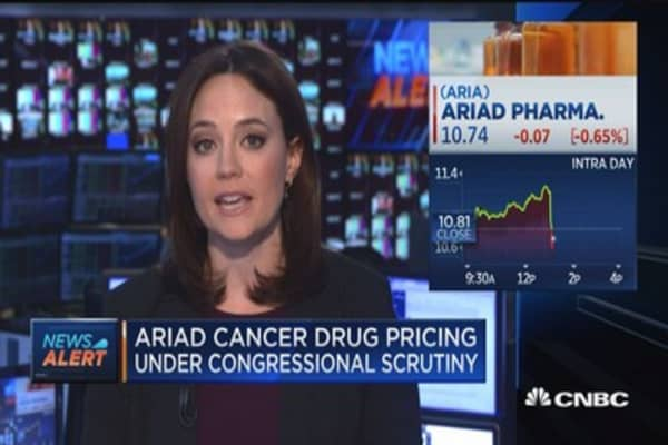 Ariad cancer drug pricing under congressional scrutiny