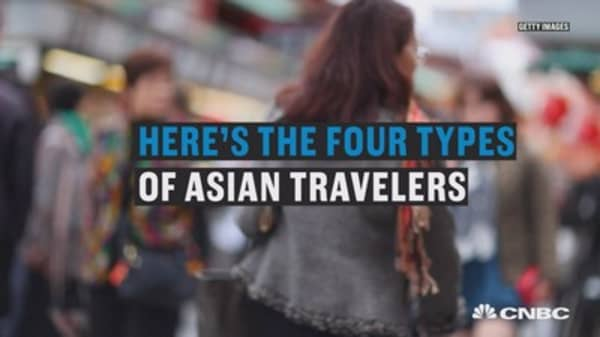 Here's the four types of Asian travelers spending money