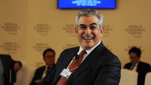Jaime Zobel de Ayala II, chairman and CEO of Ayala corporation attends a session at the World Economic Forum on East Asia.
