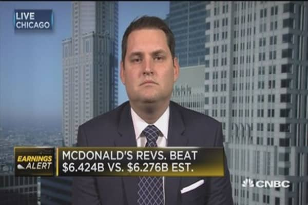 McDonald's beats Street, global comps up 3.5%