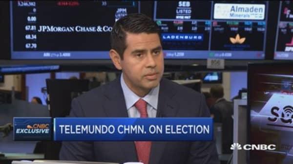 Tremendous interest in election from Latino community: Telemundo Chairman
