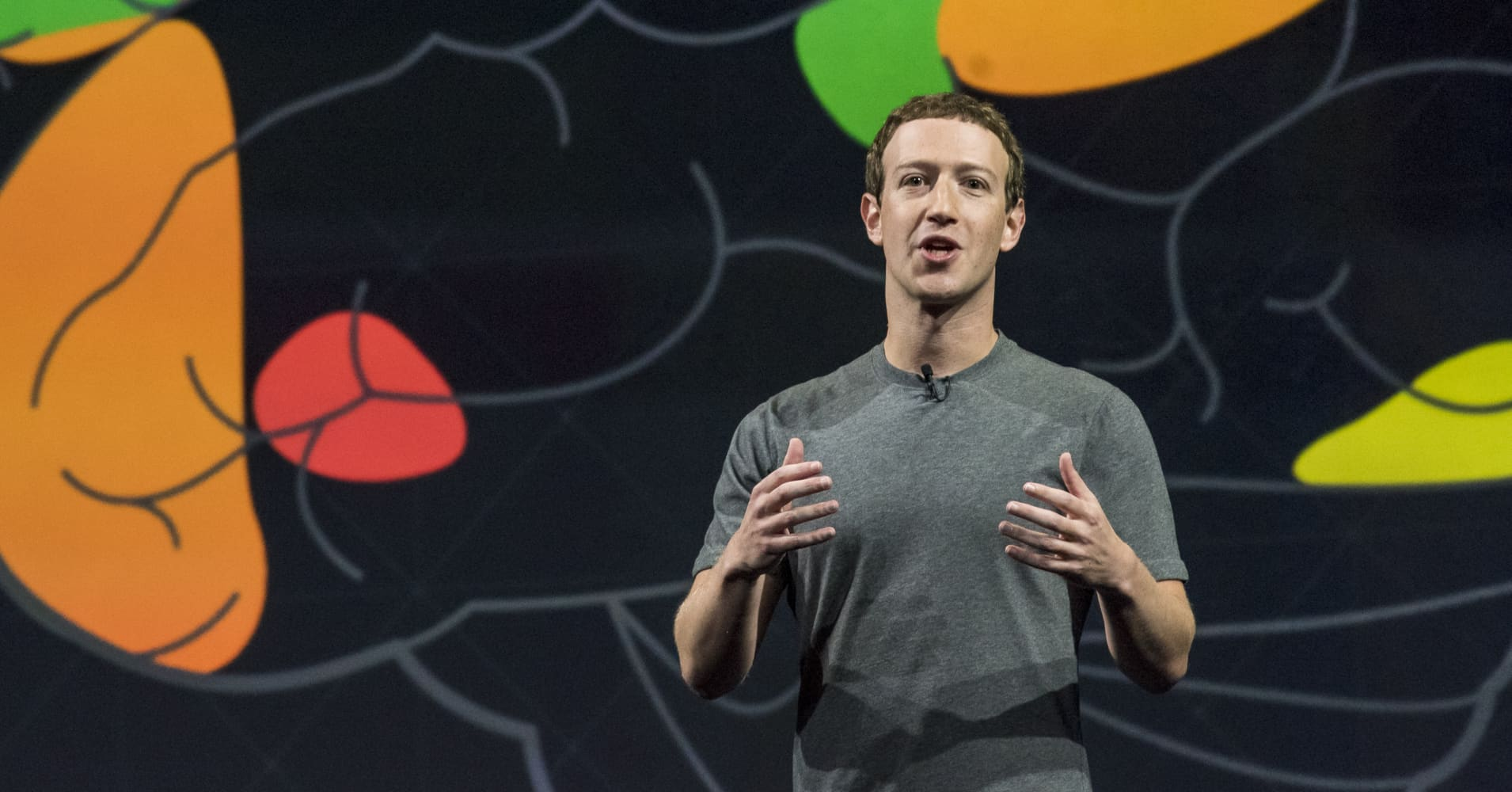 Mark Zuckerberg, chief executive officer and founder of Facebook Inc.,