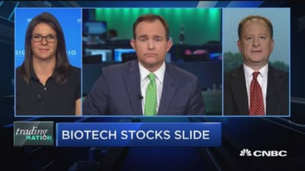 Trading Nation: Biotech stocks slide