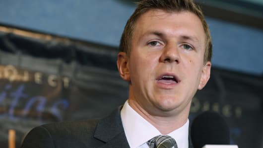 Conservative undercover journalist James O'Keefe