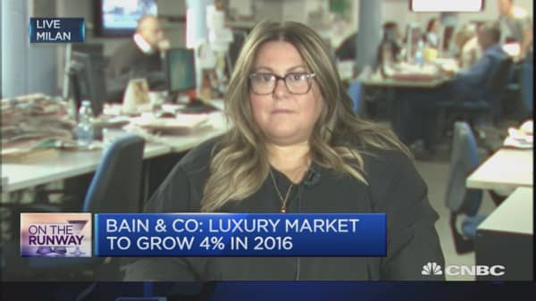 Luxury market sales to top a trillion euros in 2016: Bain & Co