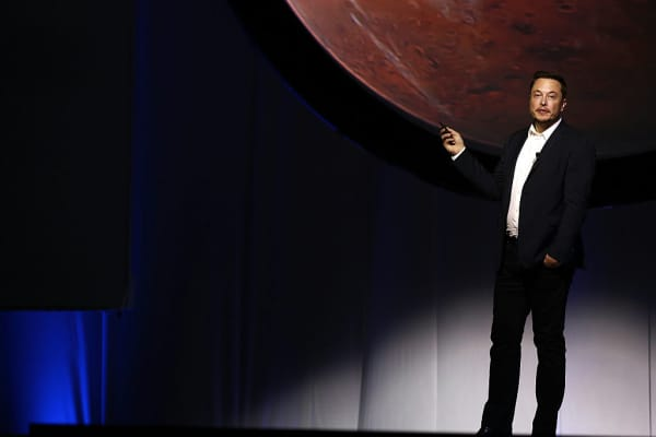 Elon Musk, chief executive officer for Space Exploration Technologies Corp. (SpaceX), speaks during the 67th International Astronautical Congress (IAC) in Guadalajara, Mexico, on Tuesday, Sept. 27, 2016.