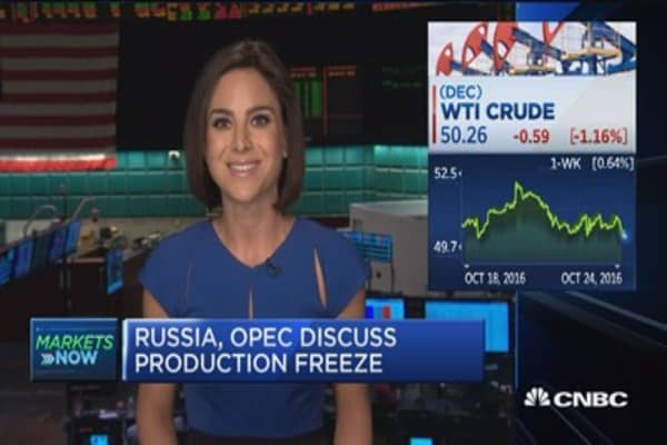 Russia, OPEC discuss production freeze