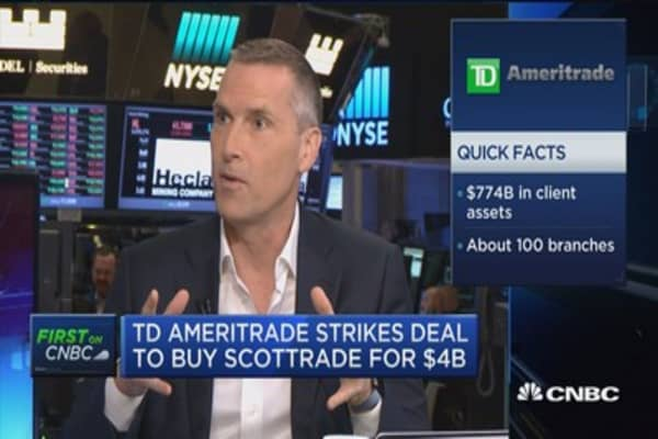 TD Ameritrade CEO on Scottrade deal: It's largely a scale play