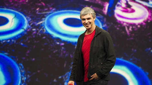 Larry Page chief executive officer of Google's parent company, Alphabet Inc.