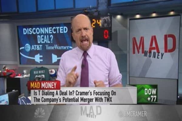 Cramer warns you not to buy AT&T or Time Warner