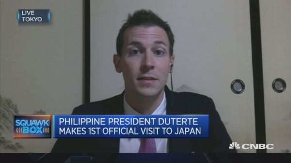 Will US ally Japan get a chilly reception from Duterte?