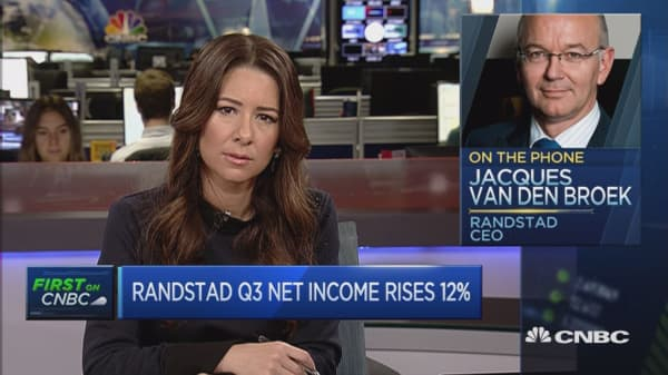 Seeing a pickup in growth in the US: Randstad Holding CEO