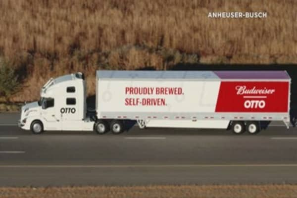 Bud uses self-driving truck for beer delivery