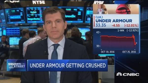 Under Armour getting crushed
