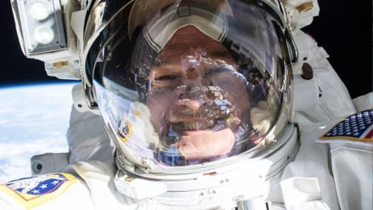 NASA astronaut Jeffrey Williams on the International Space Station.