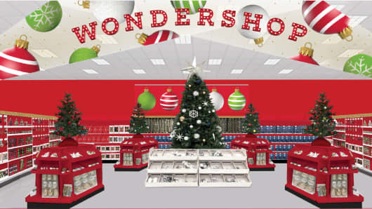 a rendering of targets wondershop - Christmas Decorations Target Stores