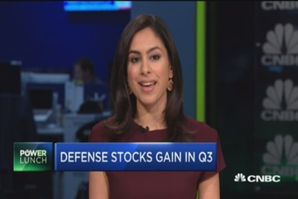 Defense stocks gain in Q3