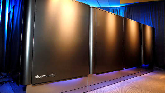 The Bloom Energy fuel cell servers