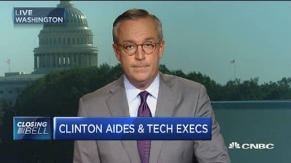 Clinton cozy with top tech execs?