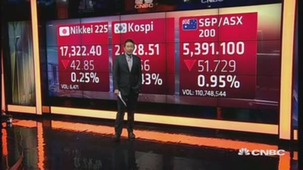 Asia markets open in the red