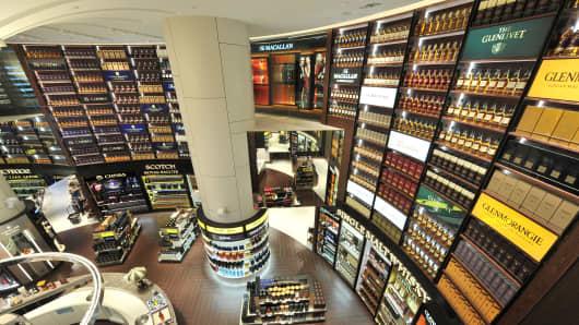 DFS Wine & Spirits store at Singapore's Changi Airport