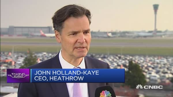 Heathrow expansion will help make Brexit a success: CEO