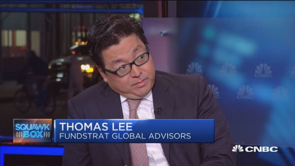 Tom Lee: 'Catch up rally' may be brewing in 'strange' market