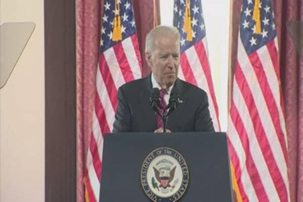 Trump says he'd 'love' to fight 'Mr Tough Guy' Joe Biden