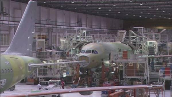 Airbus posts 21% drop in core profit