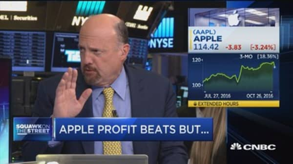 Apple conference call was 'dripping with contempt': Cramer