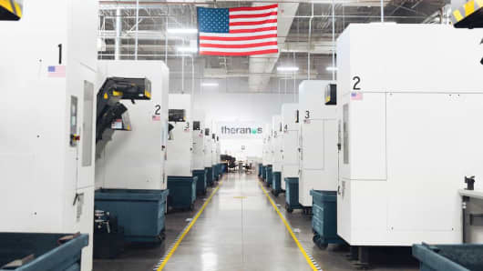 Theranos manufacturing facility in Newark, California.