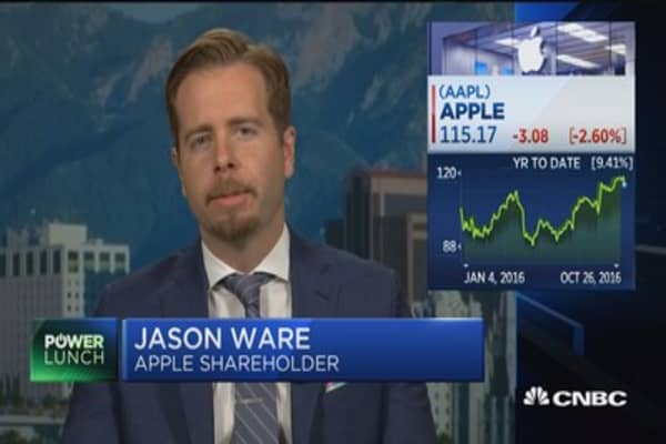 Ware on Apple: Expect decent cycle next 3 to 4 quarters